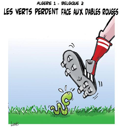Algérie 1 - Belgique 2: Les verts perdent face aux diables rouges - Lounis Le jour d'Algérie - Gagdz.com
