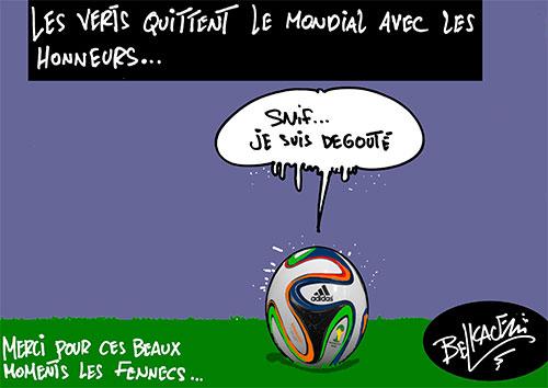 Les verts quittent le mondial avec les honneurs - Belkacem - Le Courrier d'Algérie - Gagdz.com