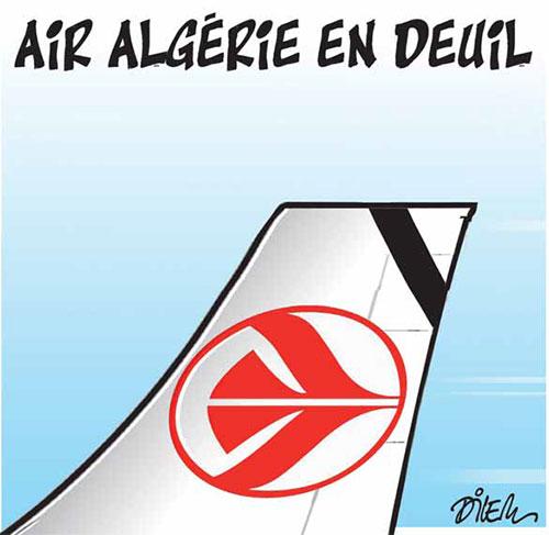 Air Algérie en deuil - Dilem - Liberté - Gagdz.com