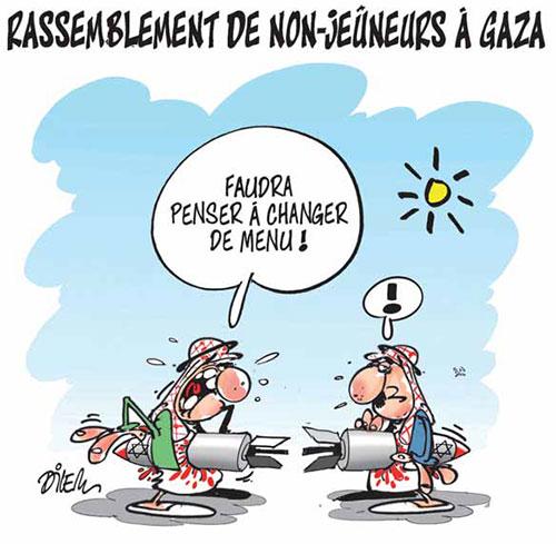 Rassemblement de non-jeuneurs à Gaza - Gaza - Gagdz.com