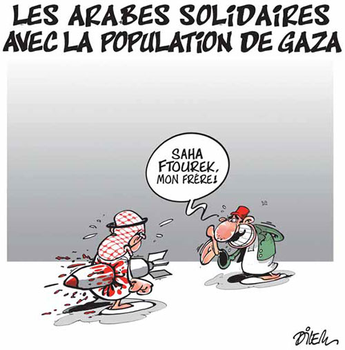 Les Arabes solidaires avec la population de Gaza - Dilem - Liberté - Gagdz.com