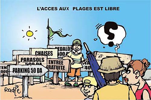 L'accès aux plages est libre - libre - Gagdz.com
