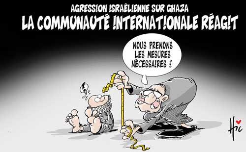 Agression isréélienne contre Ghaza: La communauté internationale réagit - Ghaza - Gagdz.com