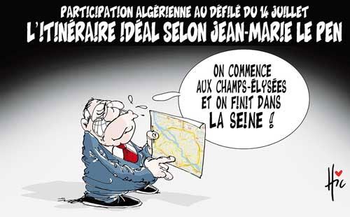 Participation algérienne au défilé du 14 juillet: L'itinéraire idéal selon Jean Marie Le Pen - Défilé - Gagdz.com