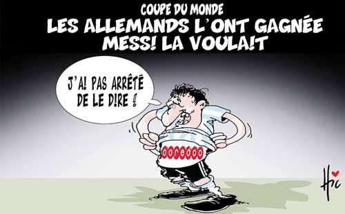 Coupe du monde: Les Allemands l'ont gagnée Messi la voulait - Le Hic - El Watan - Gagdz.com