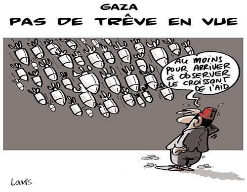 Gaza: Pas de trêve en vue - Lounis Le jour d'Algérie - Gagdz.com