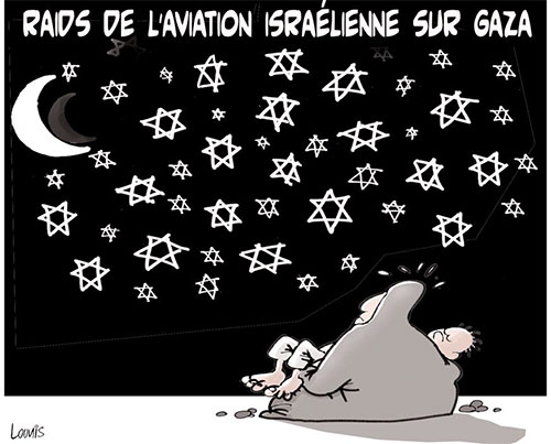 Raids de l'aviation israélienne sur Gaza - Lounis Le jour d'Algérie - Gagdz.com