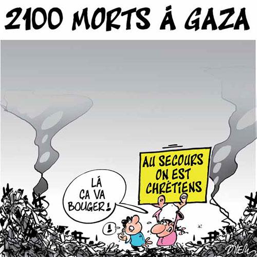 2100 morts à Gaza - Dilem - Liberté - Gagdz.com