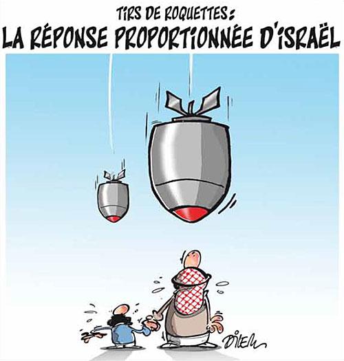 Tirs de roquettes: La réponse proportionée d'israël - Dilem - Liberté - Gagdz.com