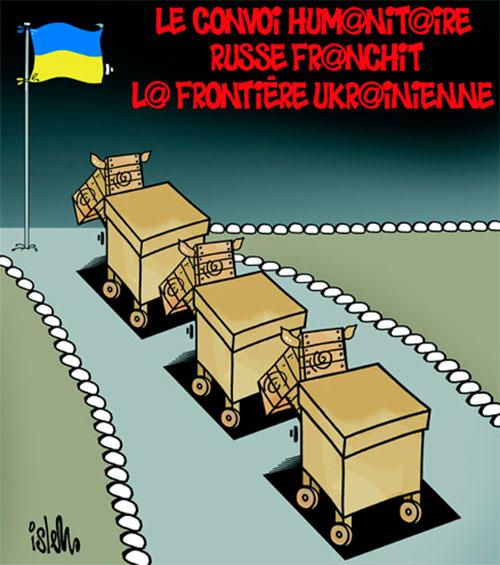Le convoi humanitaire russe franchit la frontière ukrainienne - Russie - Gagdz.com
