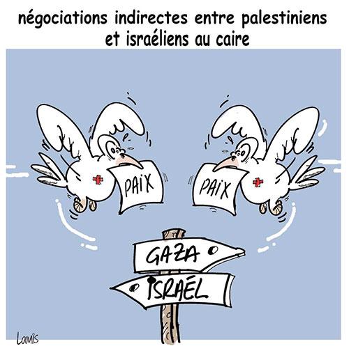 Négociations indirectes entre palestiniens et israéliens au Caire - Lounis Le jour d'Algérie - Gagdz.com