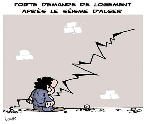 Forte demande de logement après le séisme d'Alger - Lounis Le jour d'Algérie - Gagdz.com