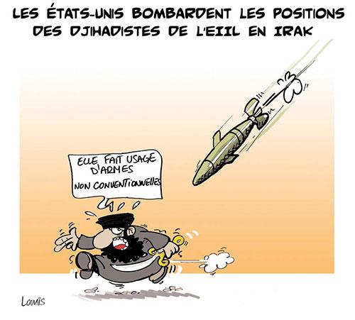 Les Etats-Unis bombardes les positions des djihadistes de l'eiil en Irak - Lounis Le jour d'Algérie - Gagdz.com