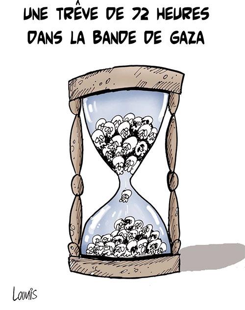 Une trêve de 72 heures dans la bande de Gaza - Lounis Le jour d'Algérie - Gagdz.com