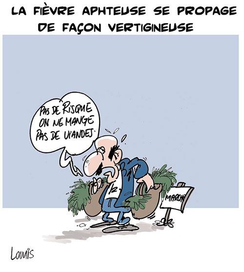 La fièvre aphteuse se propage de façon vertigineuse - Lounis Le jour d'Algérie - Gagdz.com