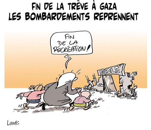 Fin de la trêve à Gaza: Les bombardements reprennent - Gaza - Gagdz.com