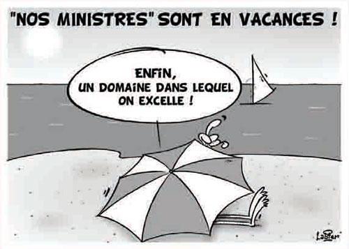 Nos ministres sont en vacances - vacances - Gagdz.com