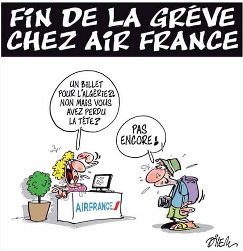 Fin de la grève chez air France - Dilem - Liberté - Gagdz.com