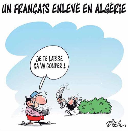 Un français enlevé en Algérie - Dilem - Liberté - Gagdz.com