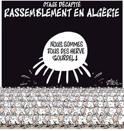 Otage décapité: Rassemblement en Algérie - Dilem - Liberté - Gagdz.com