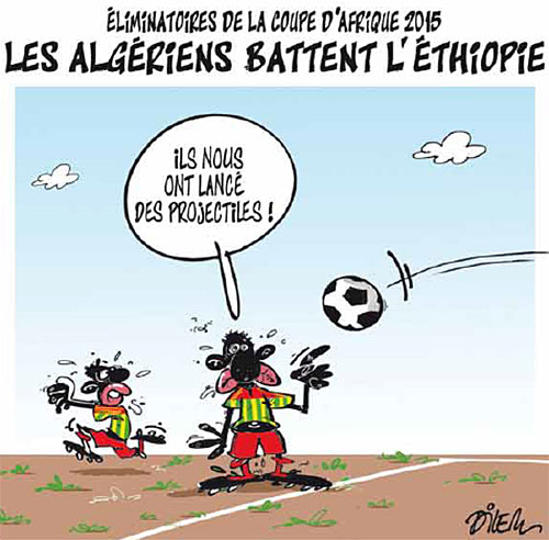 Elimination de la coupe d'Afrique 2015: Les Algériens battent l'Ethiopie - Dilem - Liberté - Gagdz.com