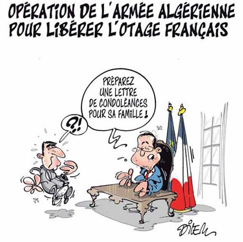 Opération de l'armée algérienne pour libérer l'otage français - Dilem - Liberté - Gagdz.com