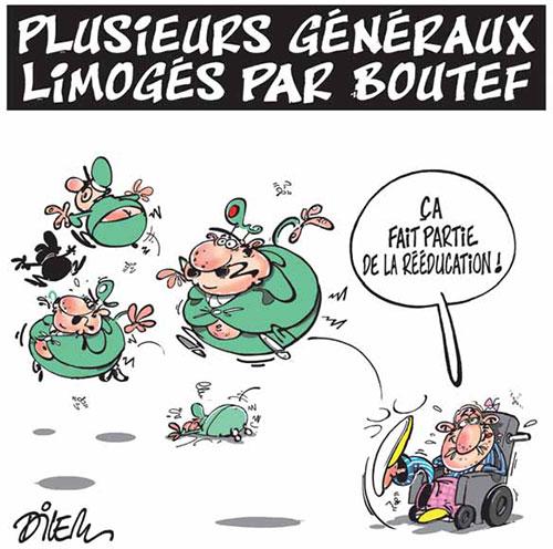 Plusieurs généraux lomogés par boutef - Dilem - Liberté - Gagdz.com
