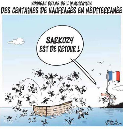 Nouveau drame de l'immigration: Des centaines de naufragés en méditerranée - Dilem - Liberté - Gagdz.com