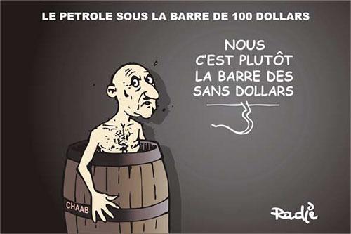Le petrole sous la barre de 100 dollars - Ghir Hak - Les Débats - Gagdz.com