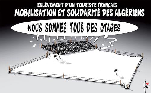 Enlèvement d'un touriste français: Mobilisation et solidarité des algériens - Le Hic - El Watan - Gagdz.com