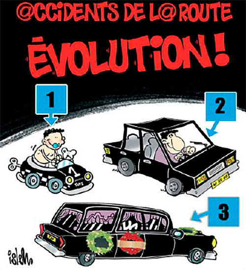 Accidents de la route: Evolution - route - Gagdz.com