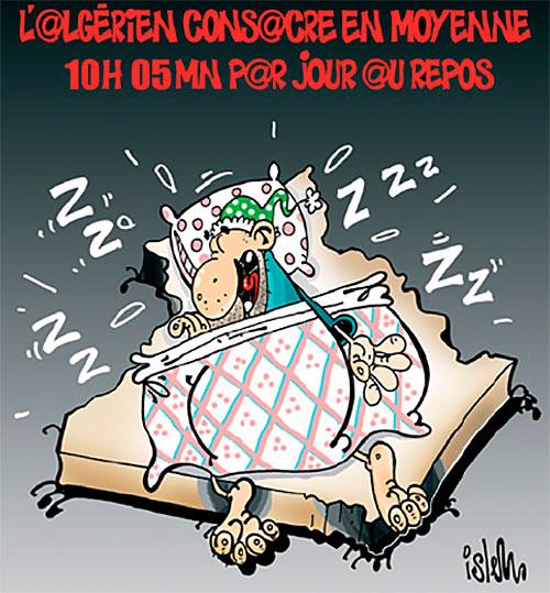 L'algérien consacre en moyenne 10h 05min par jour au repos - Islem - Le Temps d'Algérie - Gagdz.com