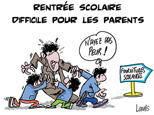 Rentrée scolaire difficile pour les parents - Lounis Le jour d'Algérie - Gagdz.com