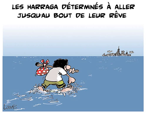 Les harraga déterminés à aller jusqu'au bout de leur rêve - Lounis Le jour d'Algérie - Gagdz.com