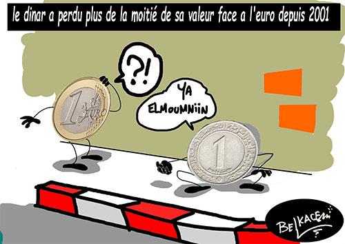 Le dinar a perdu plus de la moitié de sa valeur face à l'euro depuis 2001 - Belkacem - Le Courrier d'Algérie - Gagdz.com