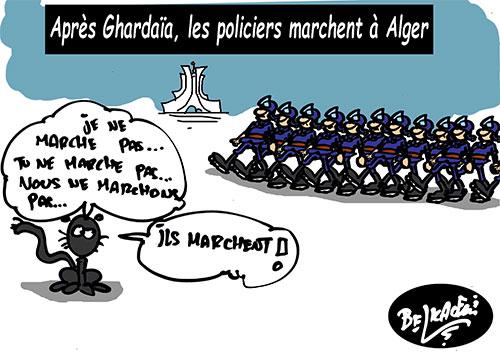Après Ghardaïa, les policiers marchent à Alger - policiers - Gagdz.com