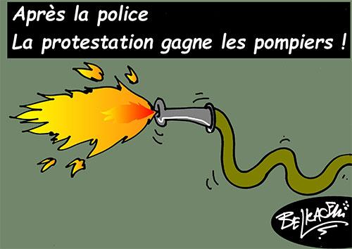 Après la police: La protestation gagne les pompiers - Belkacem - Le Courrier d'Algérie - Gagdz.com
