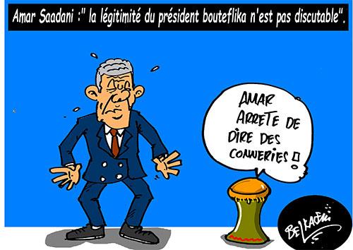 Amar Saâdani: La légitimité du président Bouteflika n'est pas discutable - Belkacem - Le Courrier d'Algérie - Gagdz.com