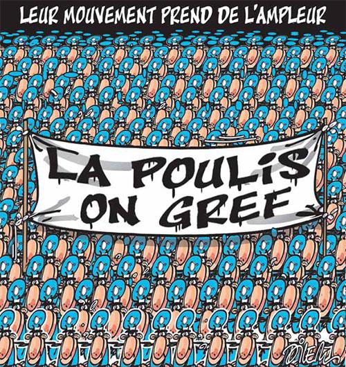 Leur mouvement prend de l'ampleur: La police en grève - Dilem - Liberté - Gagdz.com