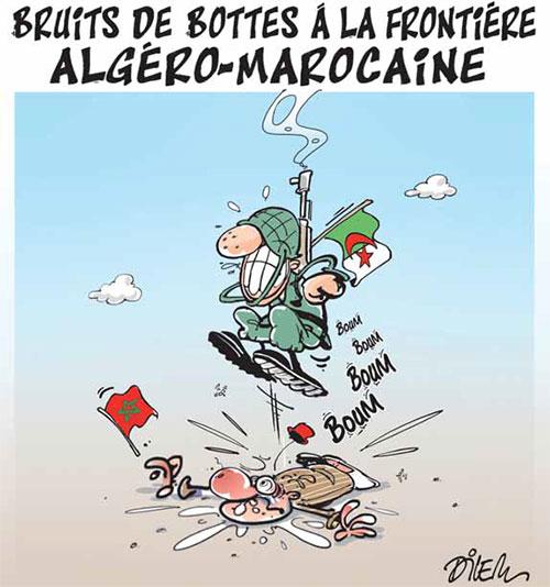 Bruits de bottes à la frontière algéro-marocaine - Dilem - Liberté - Gagdz.com