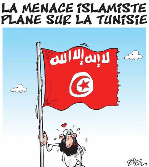 La menace islamiste plane sur la Tunisie - Dilem - Liberté - Gagdz.com