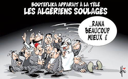 Bouteflika apparait à la télé: Les Algériens soulagés - télé - Gagdz.com