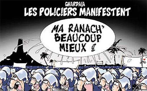 Ghardaia: Les policiers manifestent - policiers - Gagdz.com