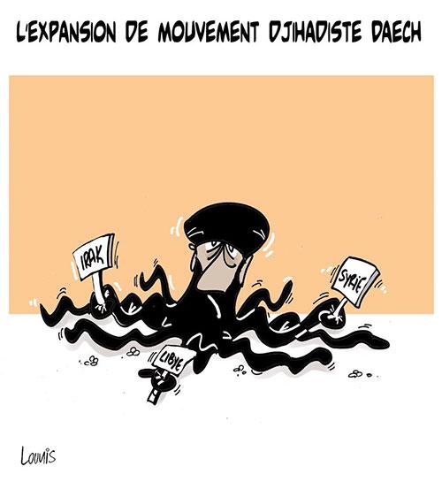 L'expansion du mouvement djihadiste daech - Lounis Le jour d'Algérie - Gagdz.com