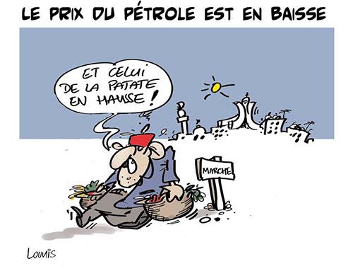 Le prix du pétrole est en baisse - Lounis Le jour d'Algérie - Gagdz.com