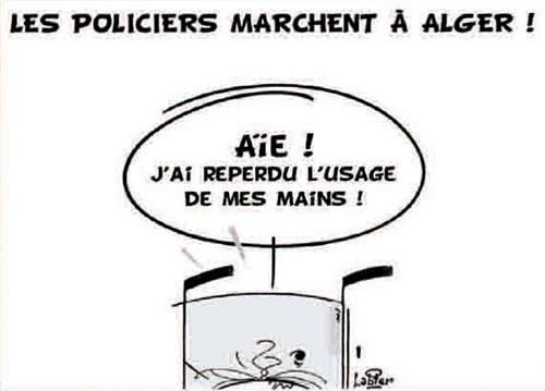 Les policiers marchent à Alger - Vitamine - Le Soir d'Algérie - Gagdz.com