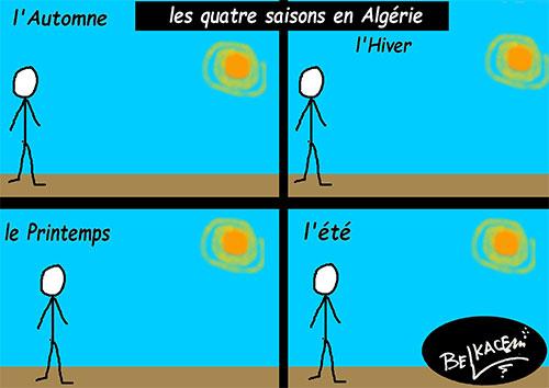 Les quatre saisons en Algérie - Belkacem - Le Courrier d'Algérie - Gagdz.com