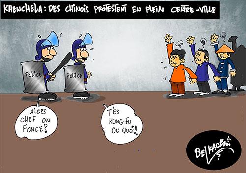Khenchla: Des manifestent en plein centre-ville - Belkacem - Le Courrier d'Algérie - Gagdz.com