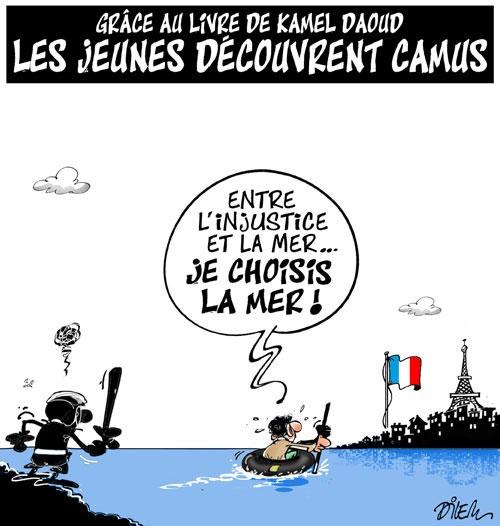 Grâce au livre de Kamel Daoud: Les jeunes découvrent Camus - Dilem - Liberté - Gagdz.com