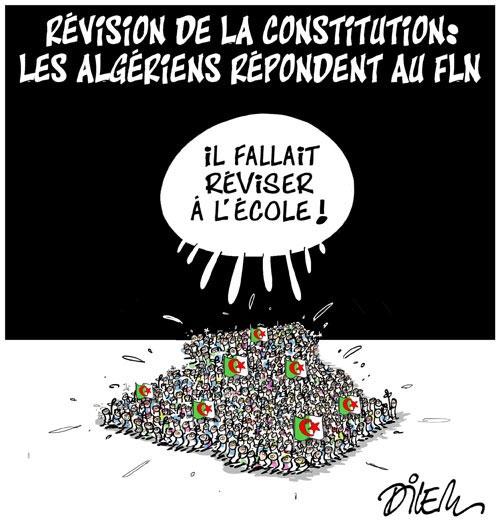 Révision de la constitution: Les Algériens répondent au fln - Dilem - Liberté - Gagdz.com